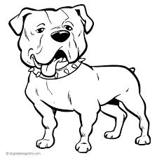 Elegant Bulldog Coloring Pages