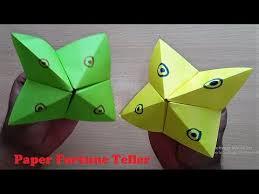 how to make paper fortune teller easy origami fortune teller