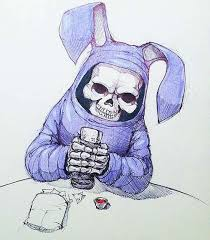 curiously cute corpse sketches bunny reaper