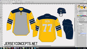 hockey templates for photoshop how to create a jersey concept in photoshop youtube