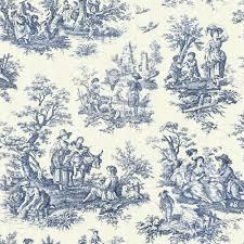 Toile De Jouy Decoration Toile De Jouy4 Jpg Quilted Curtains Toile And French Fabric