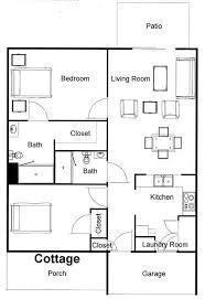 two bedroom cottage floor plans la porte in senior living floor plans