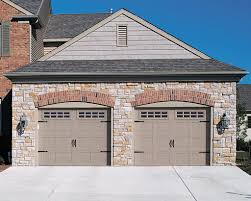 appealing design ideas two carriage style garage doors on brick