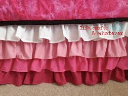 Girls Bed Skirt by Life Crafts U0026 Whatever Ombre Ruffled Bed Skirt