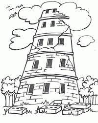 the stylish and stunning tower of babel coloring page with regard