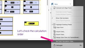 Count Calculation In Adobe Acrobat Forms Adobe Acrobat Dc Changing Order Of Field Calculations