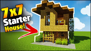 build a house minecraft 7x7 starter house tutorial how to build a house in