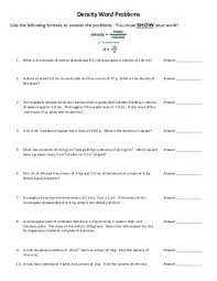 density problems worksheet free worksheets library download and