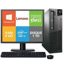 pc bureau i5 ordinateur de bureau lenovo m81 i5 8 go ram 1 to disque dur