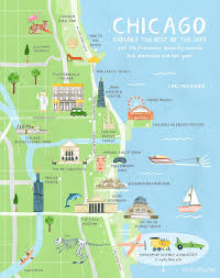 chicago map with attractions where is chicago il where is chicago il located in the world maps