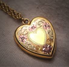 antique necklace vintage images Antique victorian gold heart locket necklace vintage rose and jpg