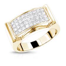 mens engagement rings mens diamond gold ring by luxurman 0 8ct 14k wedding band