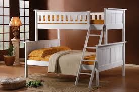 Bedroom Double Bunk Beds Jake Single Over Double Bunk Bed White - Melbourne bunk beds