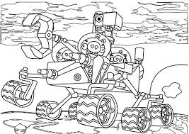 pig ride exploring robot angry birds space coloring pages