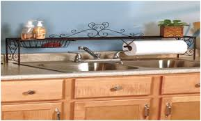 over the kitchen sink shelf with paper towel holder upgrade the