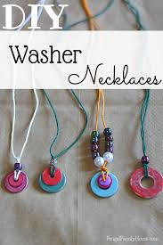 tutorial necklace making images Kid 39 s craft washer necklace tutorial frugal family home jpg