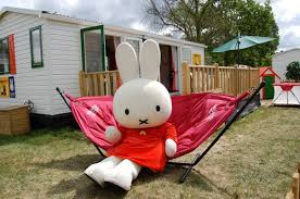 miffy relaxing in a fatboy headdemock hammock keycamp holidays