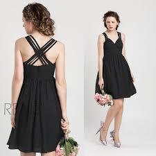 2015 black bridesmaid dress black wedding dress criss cross