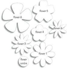 cut outs paper flower cut out different flower patterns maybe for