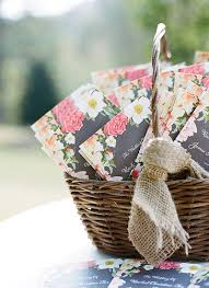 basket for wedding programs chamomile bouquet archives southern weddings
