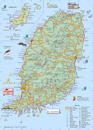 Map Of Southern Caribbean by Map Of Grenada Travel