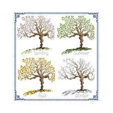 tree and seasons cross stitch pattern by x stitches