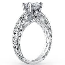 engraved engagement rings images Kirk kara quot stella quot diamond hand engraved engagement ring jpg
