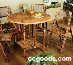 Tables And Chairs Wholesale Bamboo Table And Chair 5 Pcs Set Rattan Table And Chair 5pcs Set
