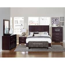 Plum Brown Modern  Piece Full Bedroom Set Moritz RC Willey - Bedroom sets at rc willey