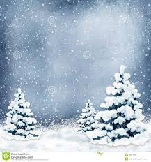 winter background with christmas trees and snow royalty free stock