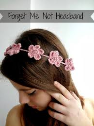 crochet flower headband treasures forget me not headband free tutorial