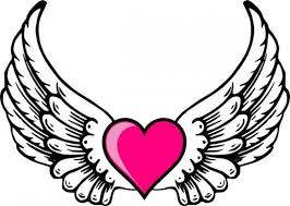 hearts with wings and halo coloring pages printable u2013 printable