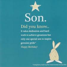 birthday cards for son cloveranddot com