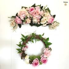 decorative wreaths for the home department door decorative wreaths mirror flower wall garland home