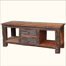 Tv Table Furniture Design With Wood Furniture Natural Wood Rustic Console Table Design With 2 Large