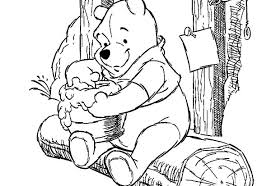 disney pooh bear enjoying sweet honey colouring page colouring tube