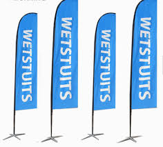 cheap custom outdoor flags feather advertising flags with base