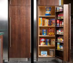 Kitchen Pantry Cabinet Furniture Awesome Built In Kitchen Pantry Cabinets Featuring Single Door