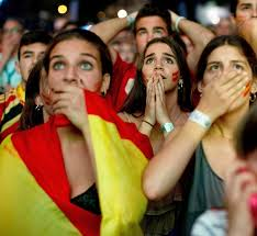 the sports fan zone fan zone after world cup exit beer lifts spanish fans rediff sports