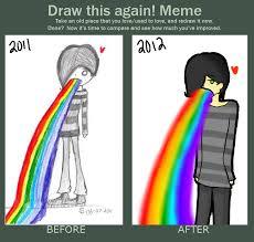 Puke Meme - rainbow puke ftw redraw by rosygirl97 on deviantart