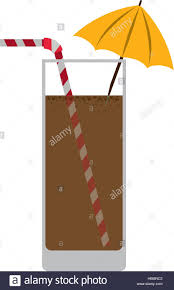drink vector silhouette colorful with chocolate drink vector illustration stock