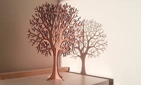 lasercut wooden tabletop tree 1