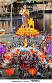 Tamil New Year Bay Decoration by Chinese New Year Decorations By The Bay In Singapore Stock Photo