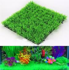 2018 eco friendly aquarium ornaments artificial water green grass
