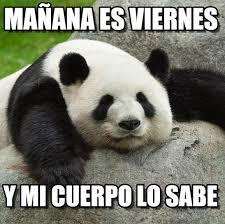 panda mañana es viernes on memegen