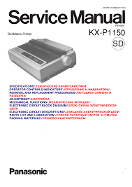 download free pdf for panasonic kx p1150 printer manual