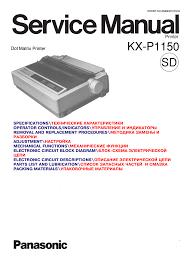 download free pdf for panasonic kx p1150 printer manual