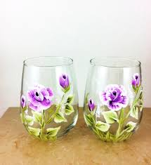 Home Decor Gifts For Mom Flower Wine Glass Stemless Wine Glass Flower Home Decor Best