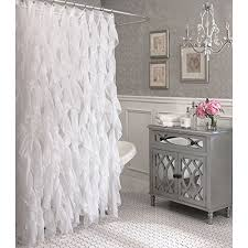 Ruffled Shower Curtains Vertical Ruffled Shower Curtain By Lorraine