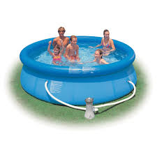 Intex Swim Center Family Pool Kiddie Pools And Inflatable Kid U0027s Pools At Ace Hardware
